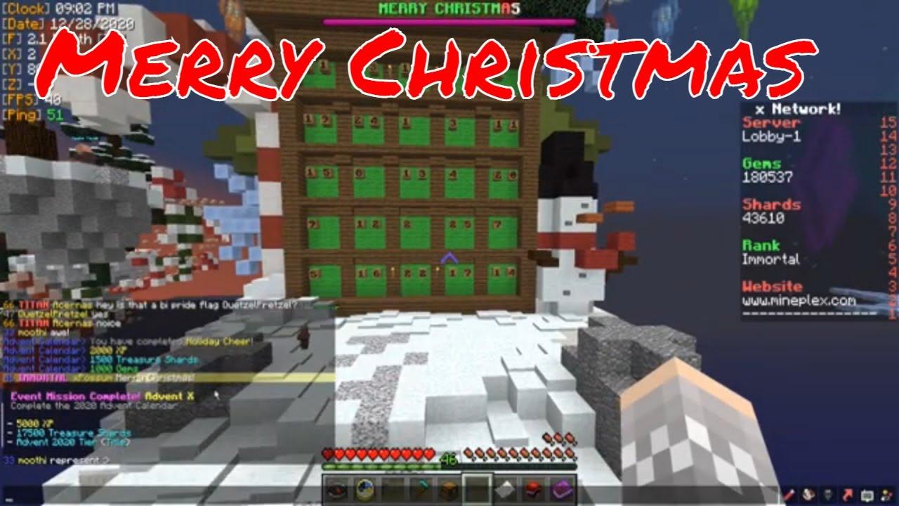 Mineplex Christmas Chaos Solo 2021 Xpossum Mineplex