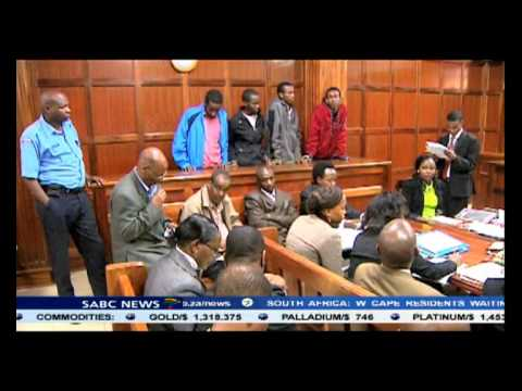 The Westgate mall terror attack suspects made their first appearance in court today.