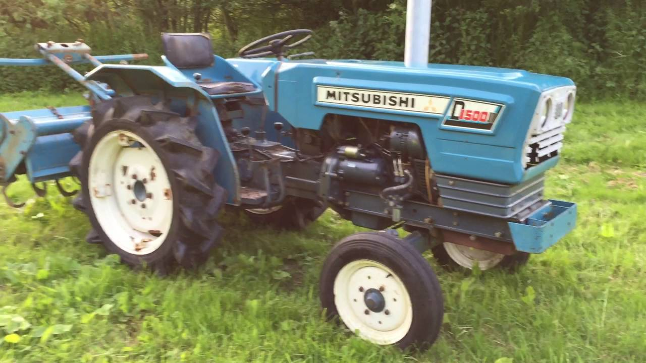Mitsubishi Tractor 2454 : Mitsubishi d wd compact tractor with rotavator for