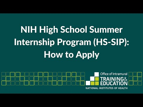 Applying to the NIH High School Summer Internship Program (HS-SIP)