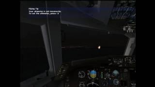 B767-Bad weather Tokyo fs2004 flight [HD]