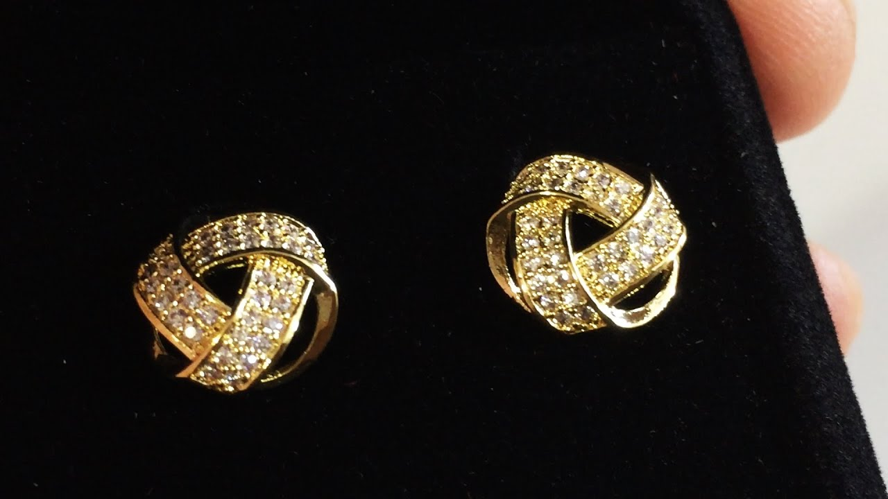 Unboxing Orrous Co Legacy Collection 18k Gold Plated Cz Twisted Love Knot Stud Earrings