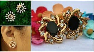 Latest Gold Stud Earrings Under 5 Grams