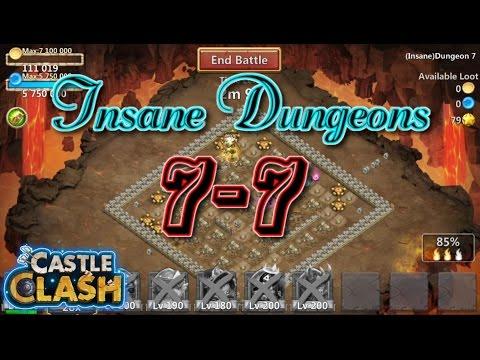 Castle Clash Insane Dungeon 7-7 Gameplay