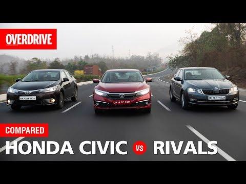 2019 Honda Civic vs Skoda Octavia vs Toyota Corolla | Comparison Test | OVERDRIVE