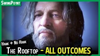 Detroit Become Human - The Rooftop - ALL Outcomes Both Hank and Captain Allen (Leave, No Hank, Win)