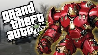 GTA 5 PC Mod - SUPER HERO IRON MAN HULKBUSTER MOD
