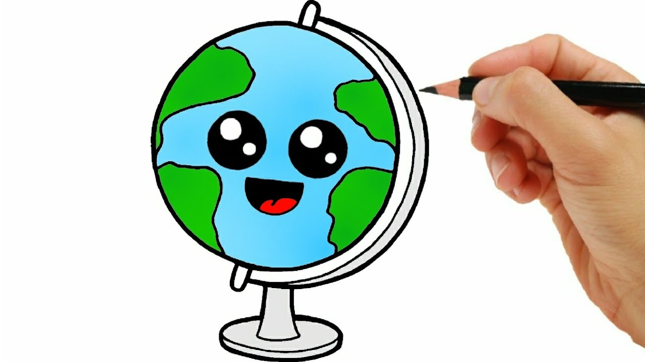 HOW TO DRAW EARTH EASY STEP BY STEP