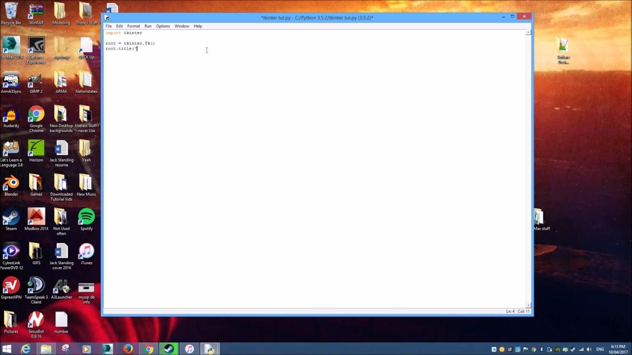 Tkinter Module - GUI Window Setup