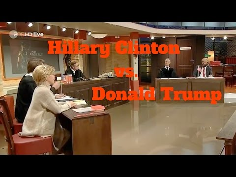 Donald Trump and Hillary Clinton on German television (with english subtitles)