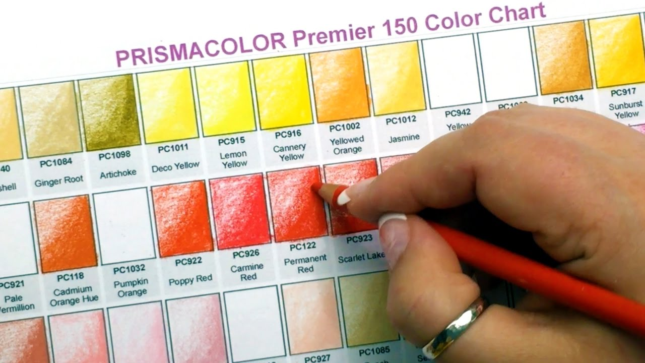 graphic regarding Printable Prismacolor Color Chart identified as Prismacolor Greatest Coloured Pencils 150 Shade Swatches