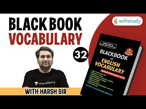 Black Book Vacabulary With Harsh Sir