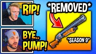 "Streamers SHOCKED After ""PUMP SHOTGUN"" *REMOVED* In Season 9! *RIP* Fortnite Moments"
