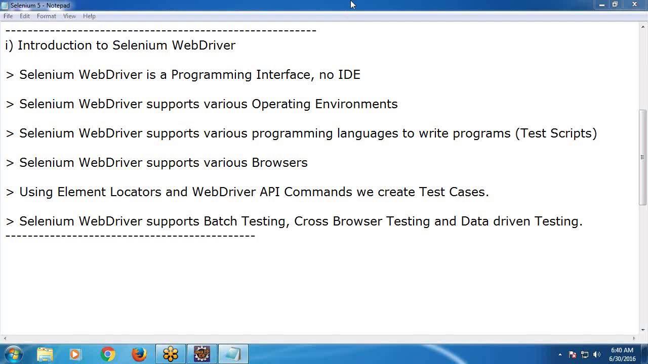 Selenium webdriver tutorial