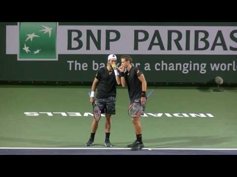 Pospisil/Johnson vs Kubot/Melo super tiebreaker at Indian Wells, 2017