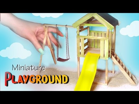 Miniature Playground Tutorial // Dolls/Dollhouse