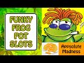 Funky Frog Pot Slots Free Slot Machine App for iPhone iPad by Appsolute Madness