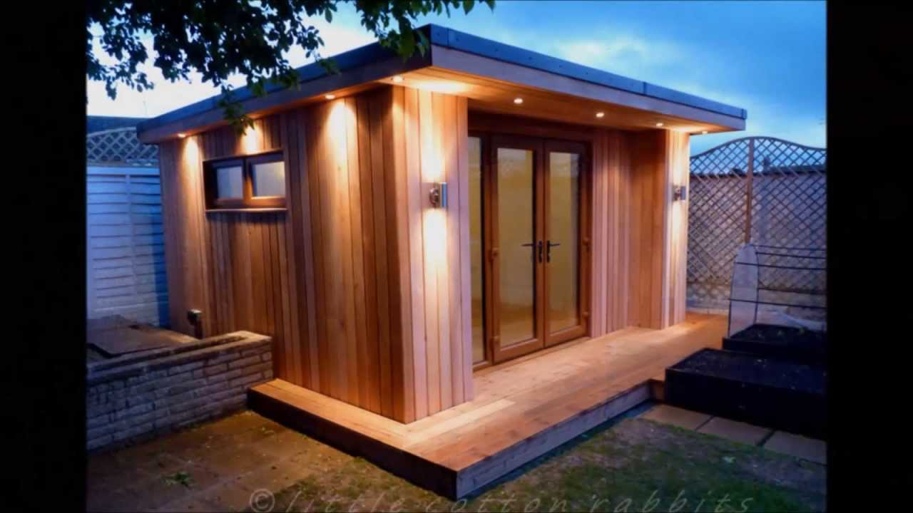 Stunning timber frame garden room build by planet design for Cheap garden office buildings
