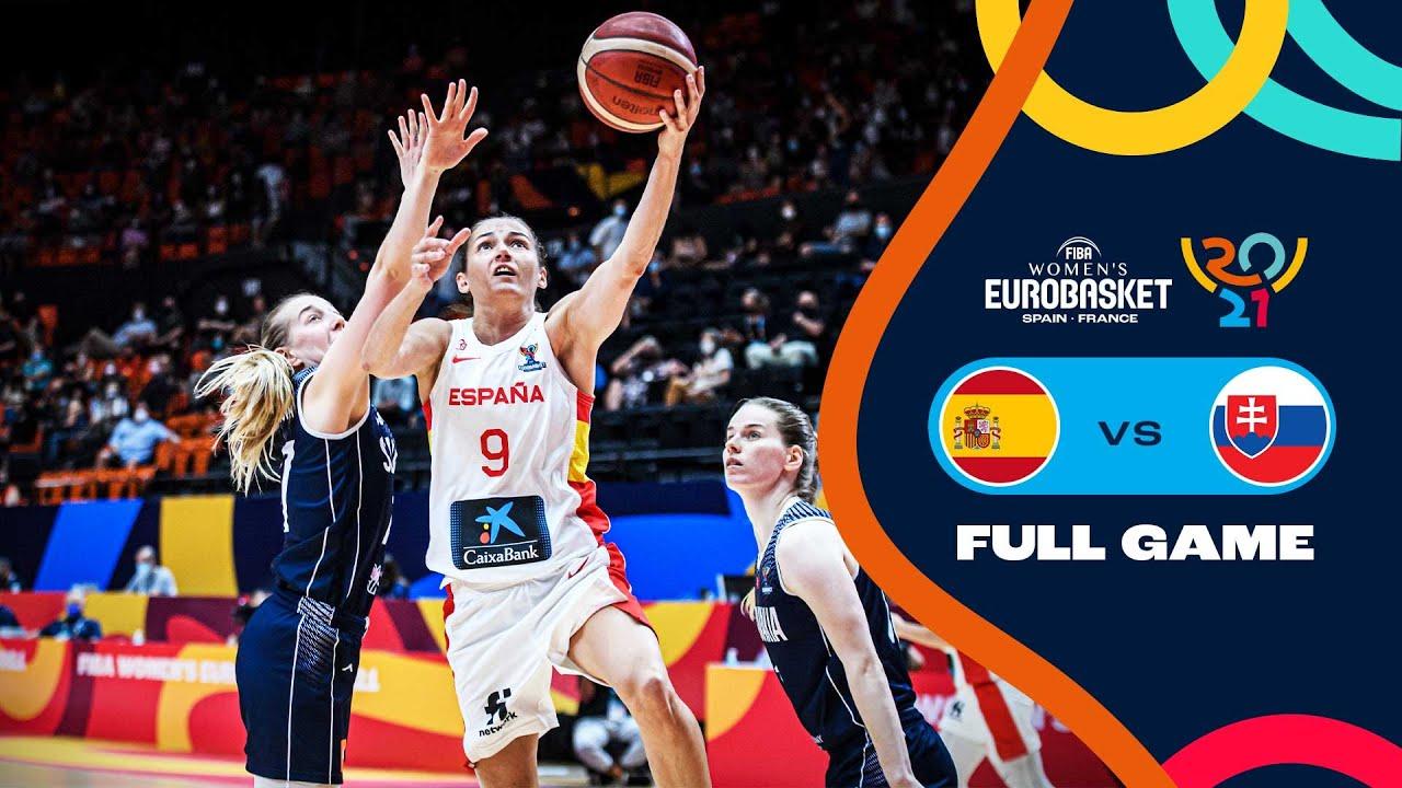 Spain v Slovakia   Full Game - FIBA Women's EuroBasket 2021 Final Round