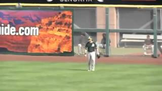 Josh Reddick robs 2 Home Runs; just like Spiderman!