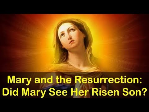 DID MARY SEE HER RISEN SON?