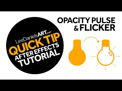 After Effects Tutorial | QUICK TIP | Opacity Pulse and