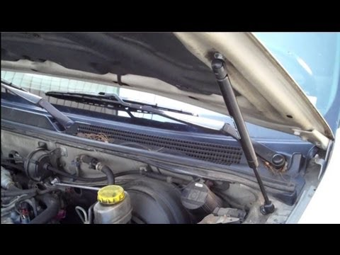 How to change hood lift support struts on a nissan maxima youtube sciox Image collections