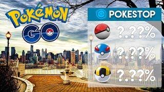 DROP RATE DOS POKESTOPS -  Pokémon Go