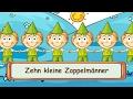 Zehn kleine Zappelmänner  - Fingerspiellieder zum Mitsingen || Kinderlieder