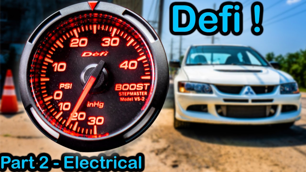 Mitsubishi Evo 8 Defi Boost Gauge Install