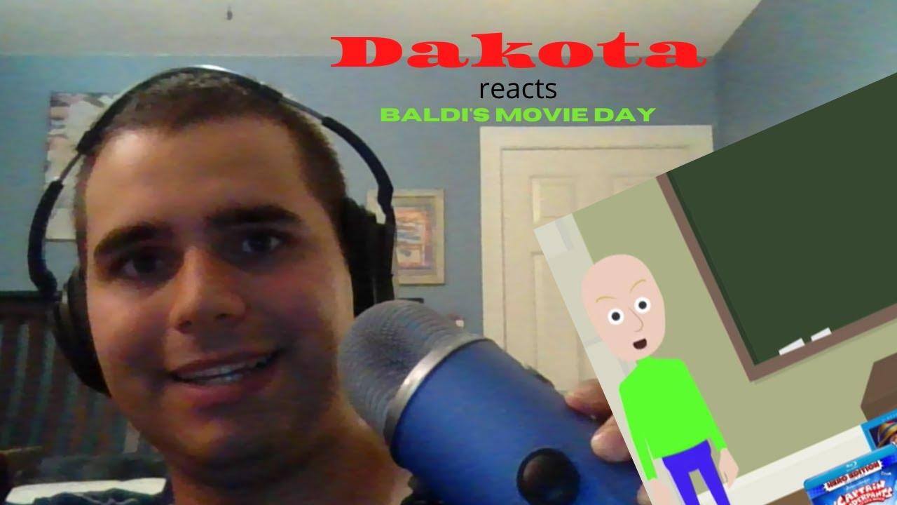 TRYING OUT MY BLUE YETI | Dakota reacts Baldi's Movie Day