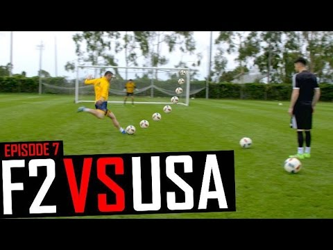 SHOOTING PRACTICE AT LA GALAXY WITH ROBBIE KEANE | F2 VS USA