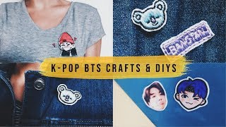 3 BTS inspired Crafts & DIYs to make on rainy days...🌧️💫