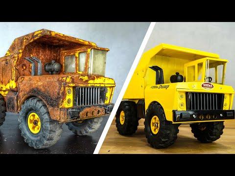 Restoration Tonka Mighty Dump Truck 1972s - Incredible Dump Truck Looks Like New !!!