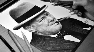Drawing Winston Churchill - Graphite