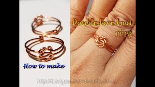 Double Love knot ring - Handmade jewelry for men and women 415