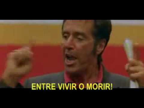 Al Pacino's Inspirational Speech - Discurso inspirador pulgada por pulgada