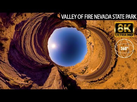 VR 360 8k Aerial Drone - Valley Of Fire State Park Nevada
