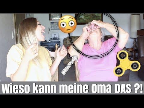 meine Oma testet zum 1. Mal einen FIDGET SPINNER ... 😳😂 | BibisBeautyPalace