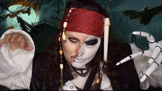 Jack Sparrow and Jack Skellington Mashup Makeup Tutorial