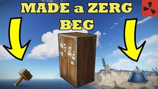 How to BRING A ZERG to their KNEES // RUST