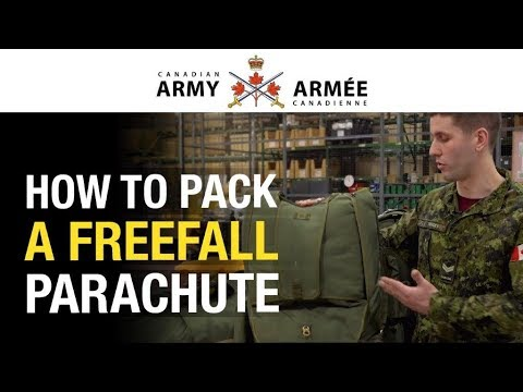Learn How Parachute Riggers Pack A Freefall Parachute