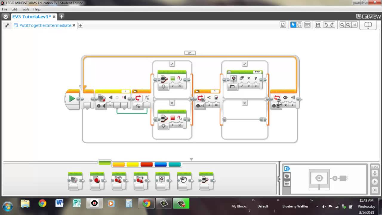18 - EV3 Programming: Putting it Together (Intermediate) - YouTube