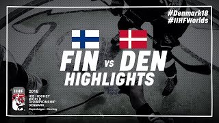 Game Highlights: Finland vs Denmark May 9 2018 | #IIHFWorlds 2018