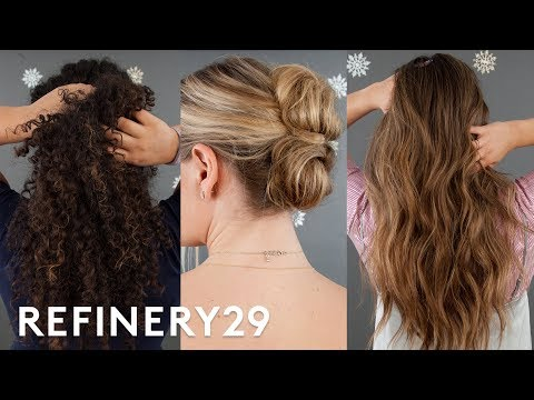 3 Easy & Gorgeous Holiday Hairstyles To Recreate | Beauty In A Snap | Refinery29