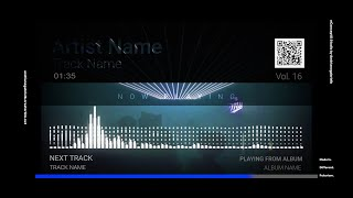 Audio Spectrum / Music Visualizer Concept S16 (Night Partying)-FREE After Effects Template Download
