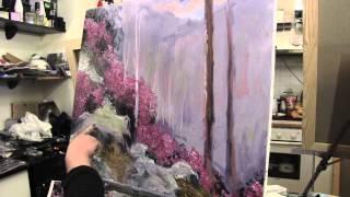 Научиться рисовать лес, пейзаж, уроки рисования в Москве, живопись малом для начинающих