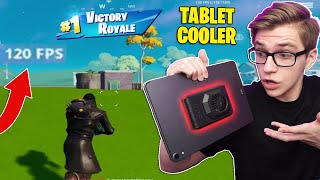I used this Tablet Cooler to get MORE FPS on Fortnite Mobile (it worked)