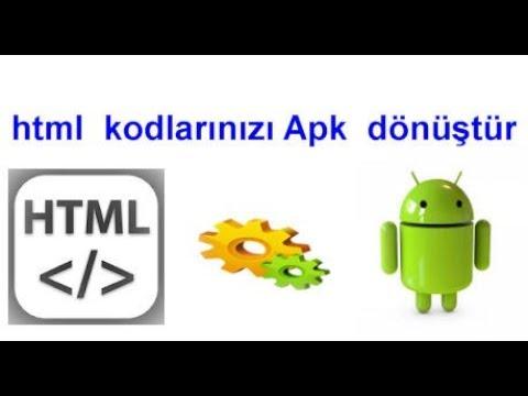 HTML KODLARI İLE MOBİL UYGULAMA YAPMA