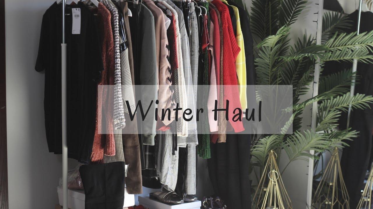 69ce28103 WINTER HAUL مشترياتي للشتاء، زارا، اتش اند ام، بيرشكا، اسوس، نمشي وغيرهم